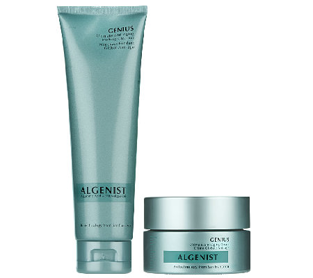 Algenist Genius Cream and Genius Cleanser Duo
