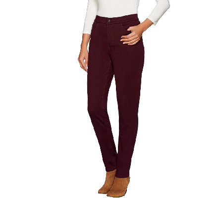 "Denim & Co. ""How Modern"" Petite Colored Denim Slim Leg Jeans"