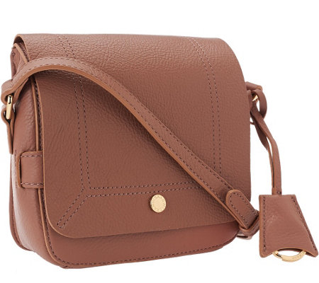 Isaac Mizrahi Live! Nolita Leather Flap Crossbody