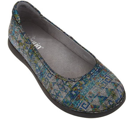 Alegria Leather Slip-on Flats - Petal