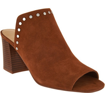 2758058dd995 Marc Fisher Leather or Suede Studded Mules - Dalilah - A295017