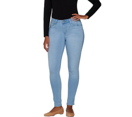 Laurie Felt Silky Denim Ankle Skinny Pull-On Jeans