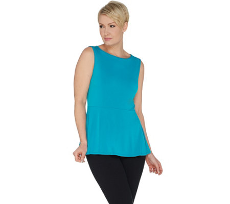 Susan Graver Modern Essentials Liquid Knit Sleeveless Top