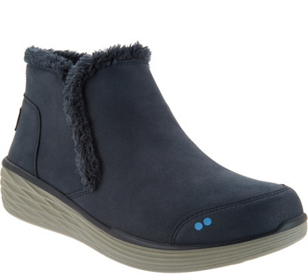 """As Is"" Ryka Faux Fur Wedge Ankle Boots- Namaste"