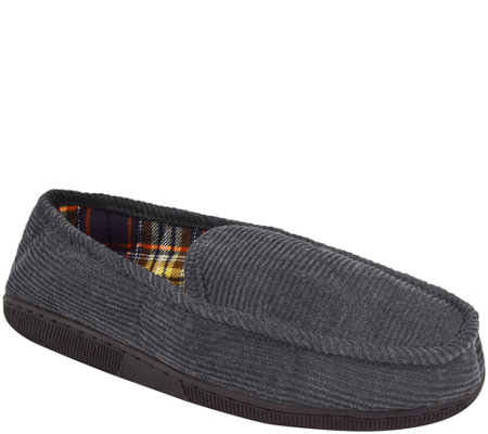 Muk Luks Men S Corduroy Moccasin With Flannel Lining