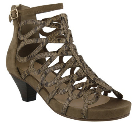 Azura by Spring Step Caged Sandals - Lydney
