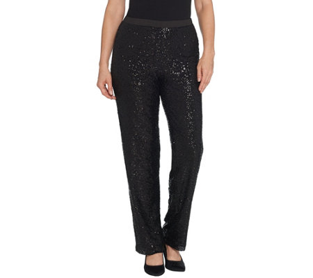 Linea By Louis Dell Olio Regular Pull On Sequin Pants