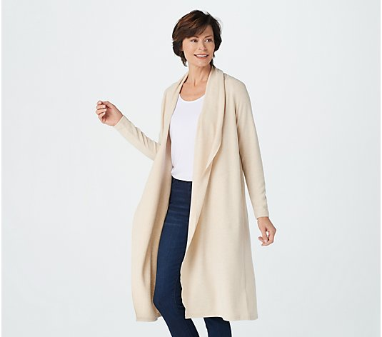 Lisa Rinna Collection Brushed Hacci Cardigan