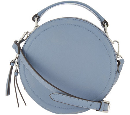 """As Is"" Vince Camuto Leather Circle Crossbody Handbag- Bray"