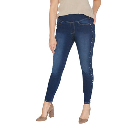 Belle By Kim Gravel Tripleluxe Denim Pearl Jegging
