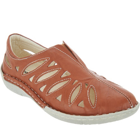 Propet Leather Slip Ons - Cameo