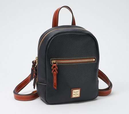 Dooney Bourke Pebble Leather Small Ronnie Backpack Qvc