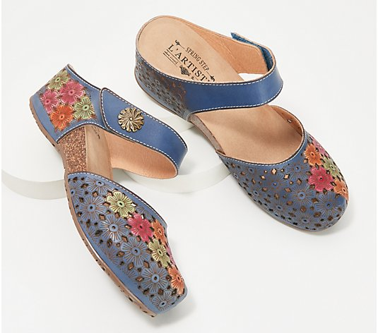 L'Artiste by Spring Step Leather Clogs - Spikey