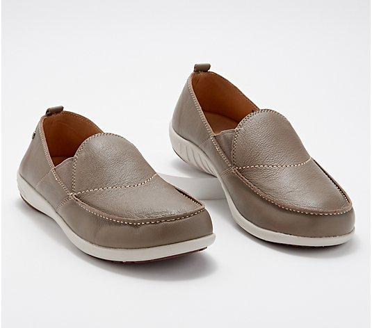 Spenco Orthotic Men's Leather Slip-Ons - Siesta