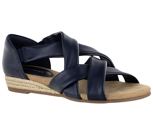 Easy Street Espadrille Wedge Sandals - Zora