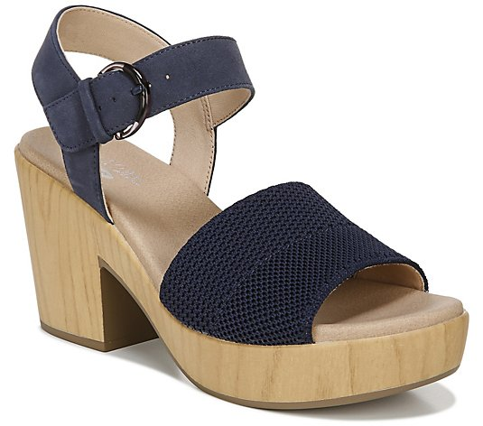 Dr. Scholl's Knit Platform Sandals - Brickell Eco