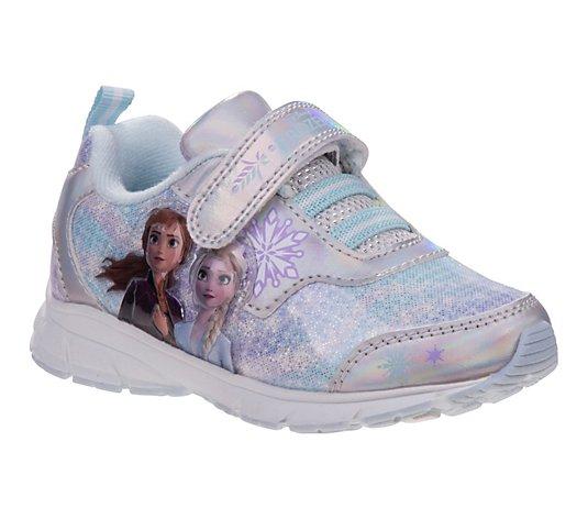 9,10,11,12 Sz 6,7,8 Disney Frozen Anna /& Elsa Girls/' Light-Up Sneakers Shoe