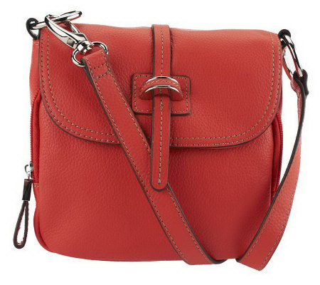 feb3ce42d Tignanello Pebble Leather Flap Front Small Crossbody Bag. Back to video