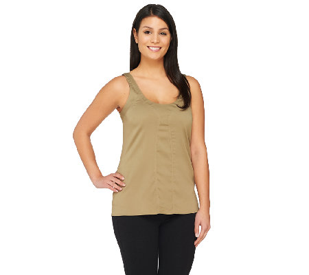 G.I.L.I. Sleeveless Scoop Neck Top with Seaming Detail