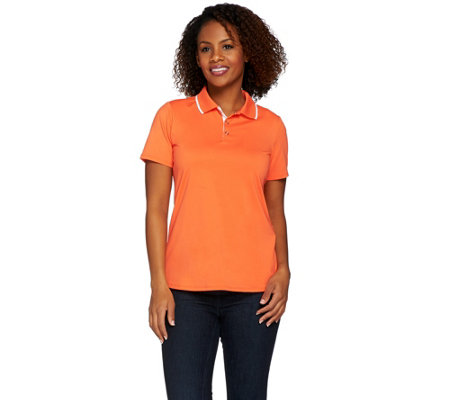 Susan Graver Butterknit Short Sleeve Polo Shirt