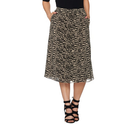 Linea by Louis Dell'Olio Pull-On Printed Skort