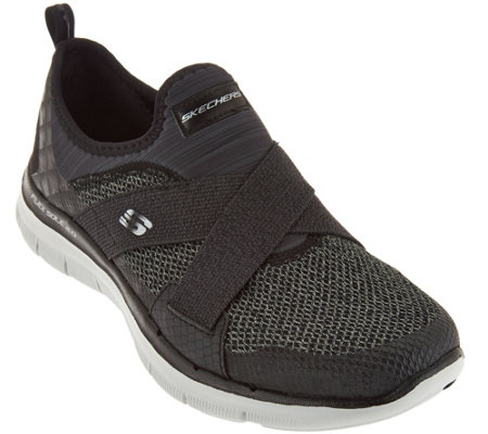 7be97fc132b8 Skechers Cross-Strap Slip-On Sneakers - New Image - Page 1 — QVC.com