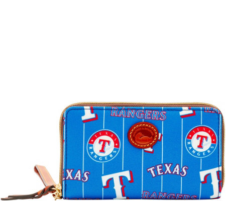 Dooney & Bourke MLB Nylon Rangers Zip Around Phone Wristlet