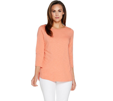 C. Wonder Essentials Slub Knit Tunic with Curved Hem