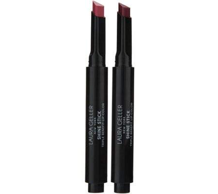 Laura Geller Shine Stick Triple Benefit Lip Color Duo