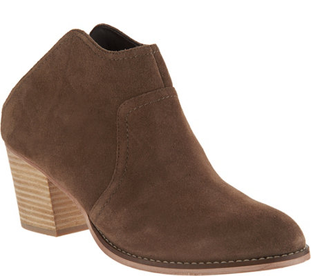 Sole Society Suede Heeled Mules - Caribou