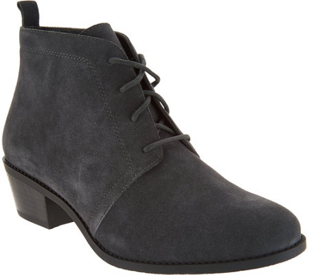 Vionic Suede Lace-up Ankle Boots - Andi