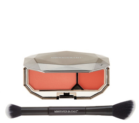 Kristofer Buckle Twin Set Cream & Powder Blush Duo