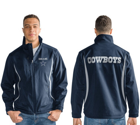 """As Is"" NFL Dallas Soft Shell Bonded Jacket w/Fleece Interior"