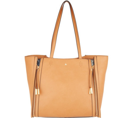 """As Is"" G.I.L.I. Leather Zipped- Up Tote Handbag"