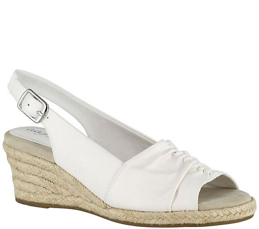 Easy Street Slingback Wedge Espadrilles - Kindly