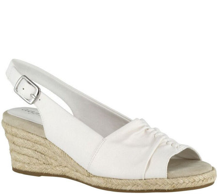new concept best loved hot product Easy Street Slingback Wedge Espadrilles - Kindly - Page 1 — QVC.com