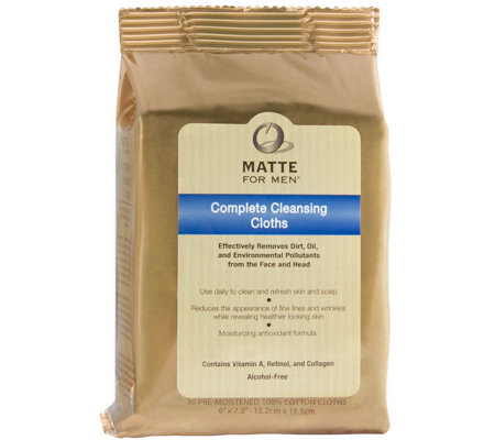 Matte For Men Complete Cleansing Cloths 30 Count