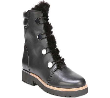 Franco Sarto Leather Ankle Boots - Crown