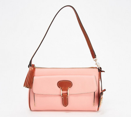 Dooney Bourke Pebble Leather Dana Pocket Clutch