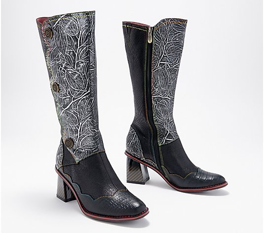 L'Artiste by Spring Step Leather Tall Shaft Boots- Energy