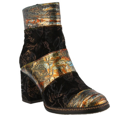 L'Artiste by Spring Step Leather and Textile Boots - Whitney