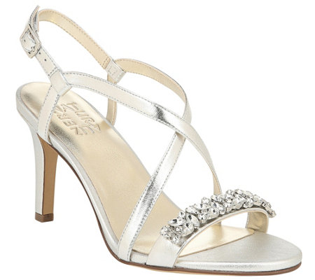 Naturalizer Strappy Heeled Sandals w/ Rhinestone Detail - Kia