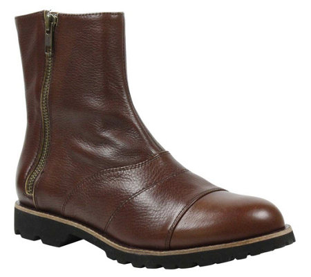 L'Amour Des Pieds Side-Zip Leather Boots - Rambert