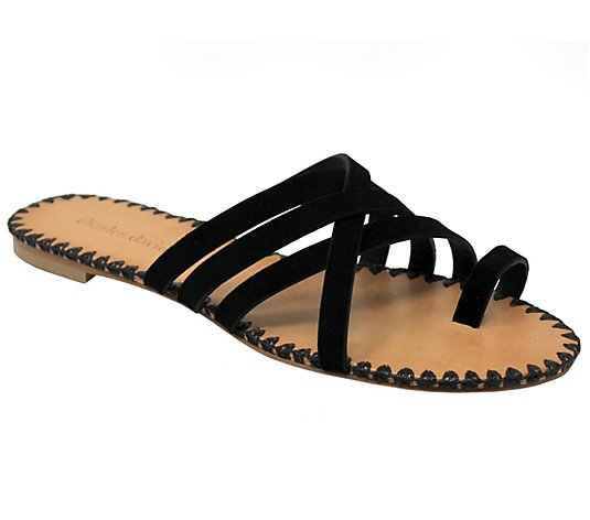 Charles David Strappy Toe Thong Slide Sandals -Session