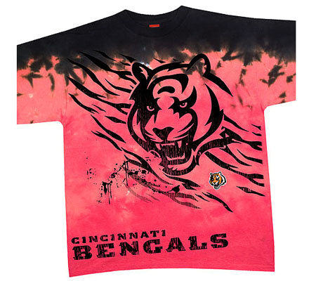 NFL Cincinnati Bengals Fade Tie-Dye T-shirt — QVC.com 616cd6632