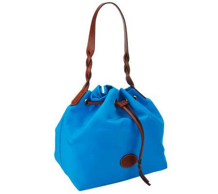 Dooney Bourke Nylon Drawstring Bag With Twisted Handle