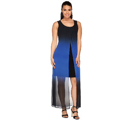 Attitudes by Renee Regular Ombre Chiffon Maxi Dress