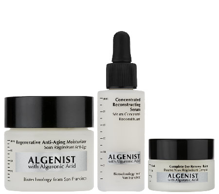 Algenist Concentrated Serum, Eye Balm and Anti-Aging Moisturizer