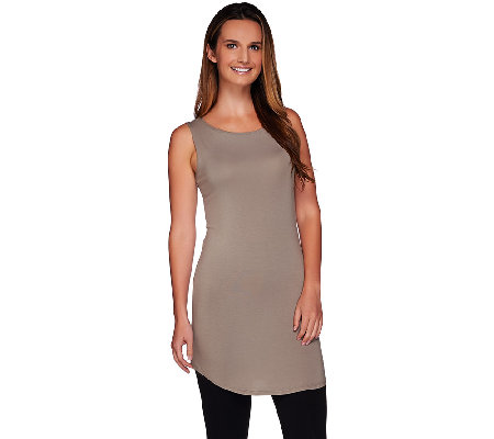 LOGO Layers by Lori Goldstein Regular Crew Neck Tank w/ Curved Hem