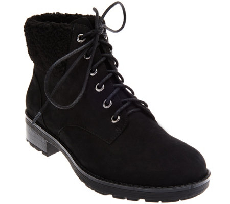 Vionic Lace-up Boots with Faux Fur Trim - Lolland